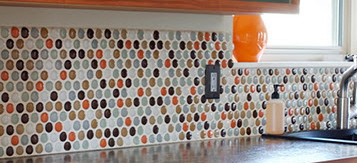 round tile backsplash
