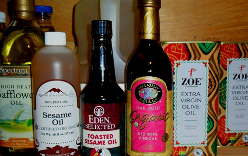 oils in pantry