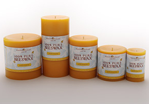 bluecorn beeswax pillars