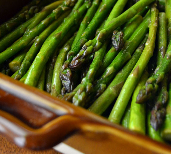 asparagus roasted in oil and lemon